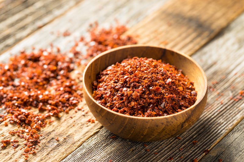 Spices of Turkish cuisine - red pepper flakes