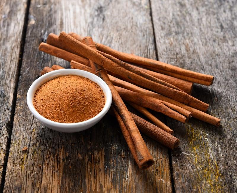 Spices of Turkish cuisine - cinnamon