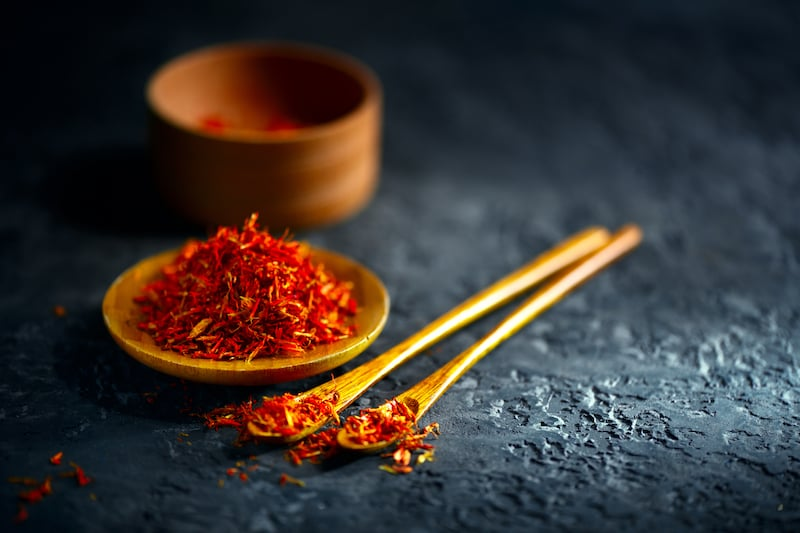 Spices of Turkish cuisine - saffron