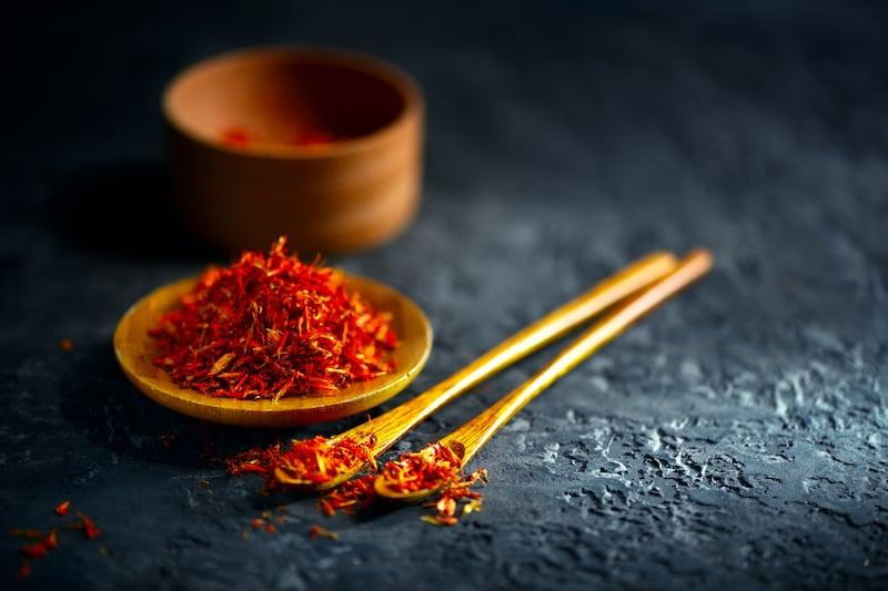 Spices of Turkish cuisine - saffron