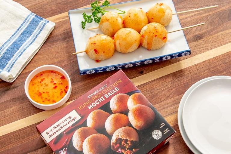 Kung Pao Chicken Mochi Balls, credit Trader Joe's