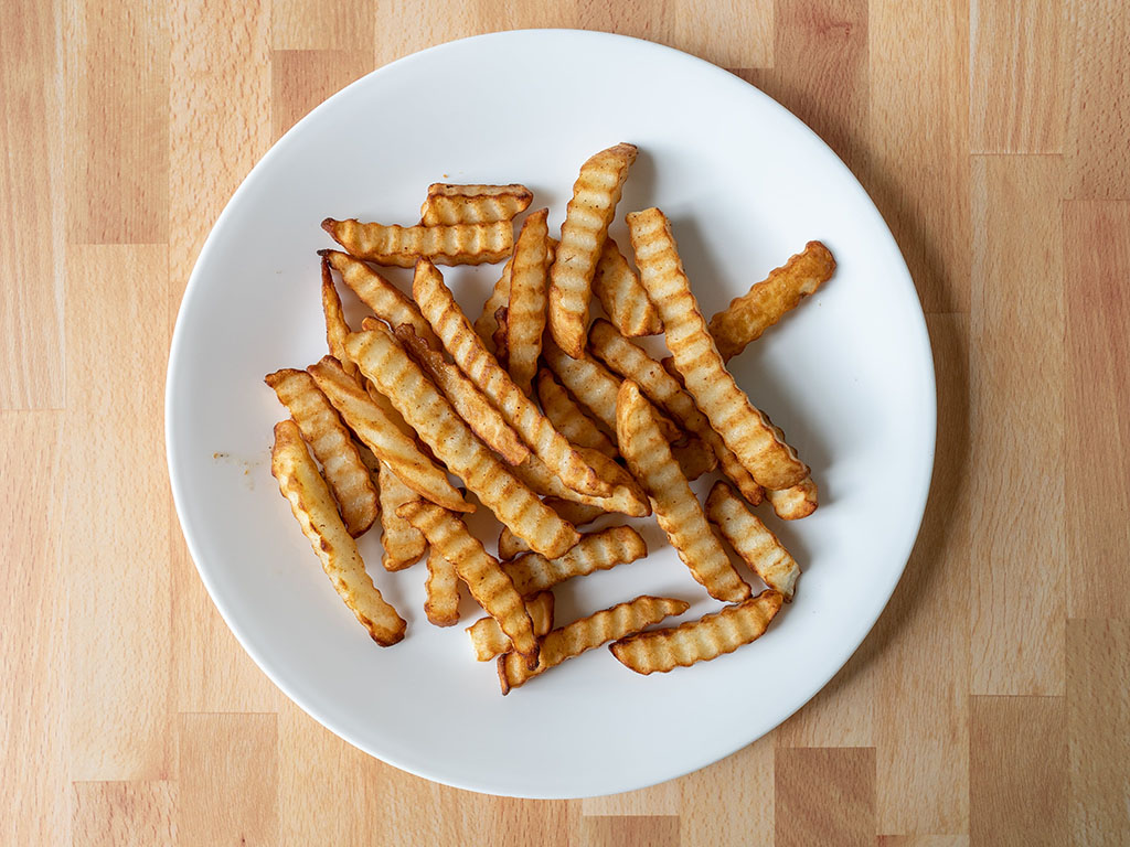 Air fried Simple Truth Crinkle Cut Potato Fries