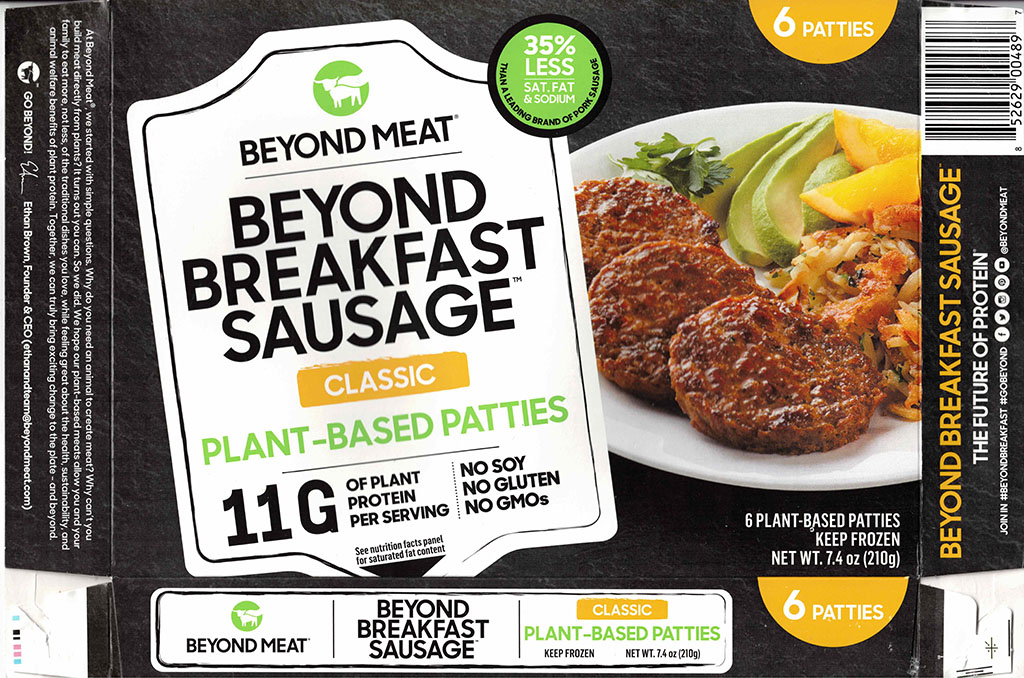 Beyond Breakfast Sausage package front