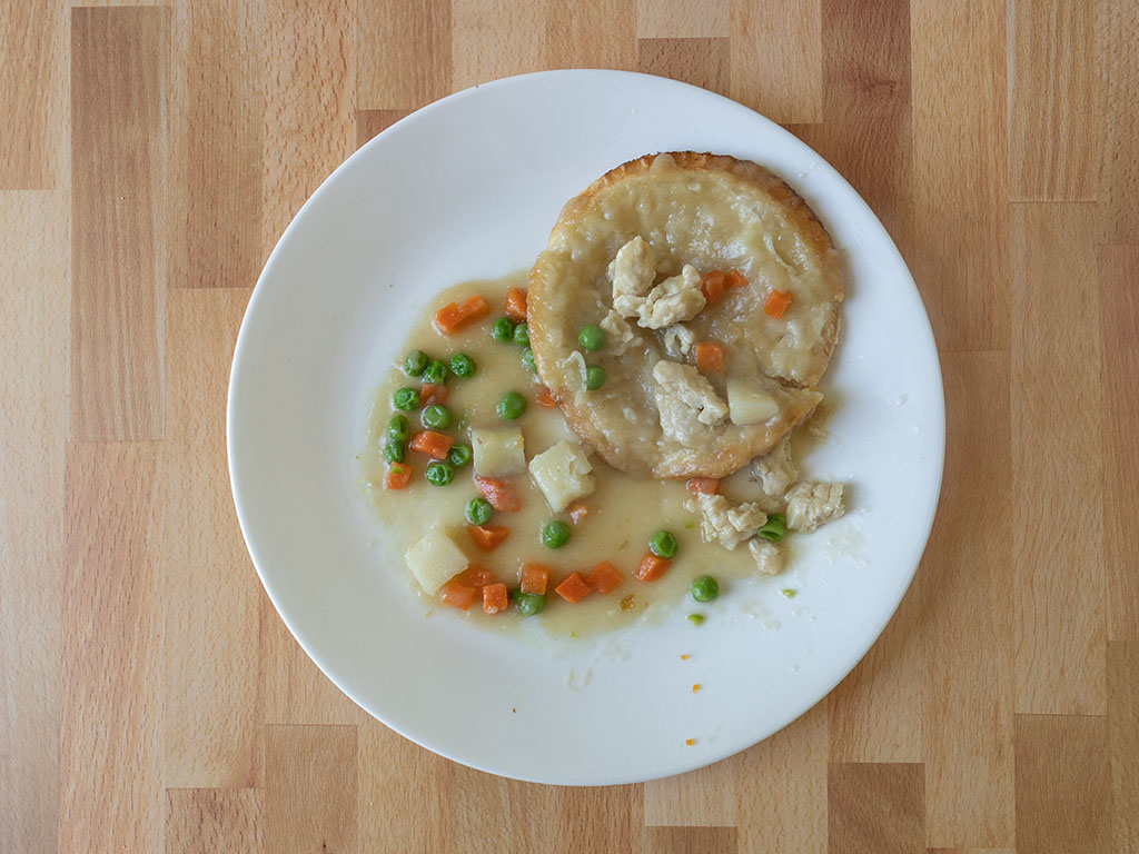 Blake's Chicken Pot Pie cooked flipped