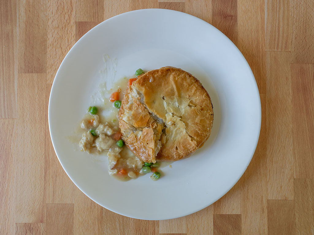 Blake's Chicken Pot Pie cooked