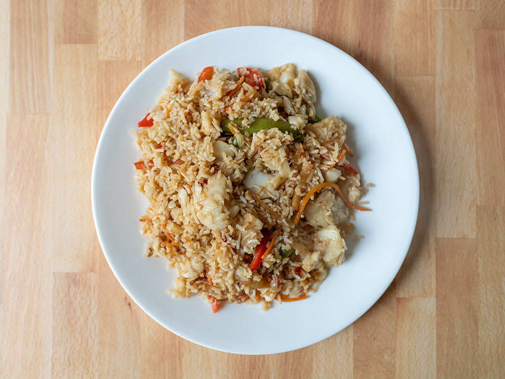 Cod fried rice