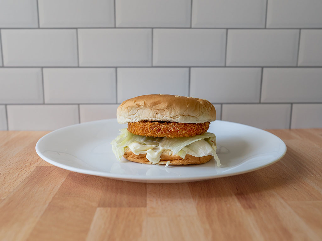 MorningStar Farms Buffalo Chik Patties on bun