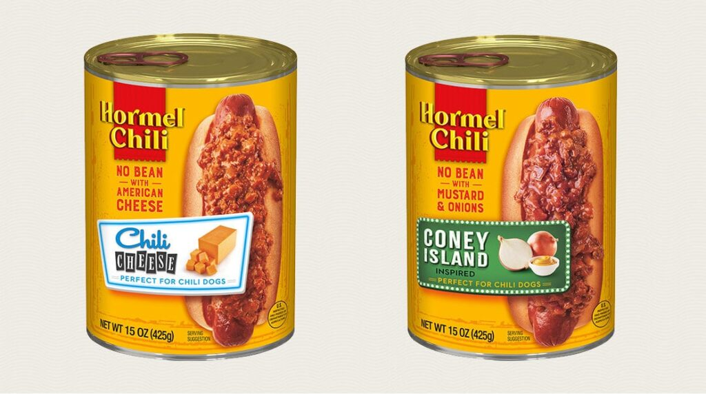 New hot dog chili, credit Hormel