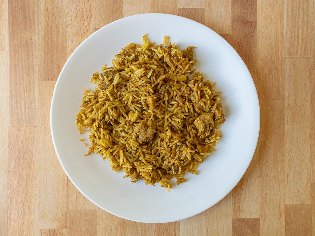 Saffron Road Chicken Biryani cooked