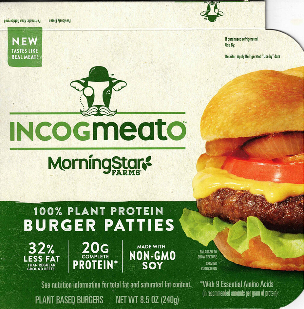 MorningStar Farms Incogmeato Burger package front
