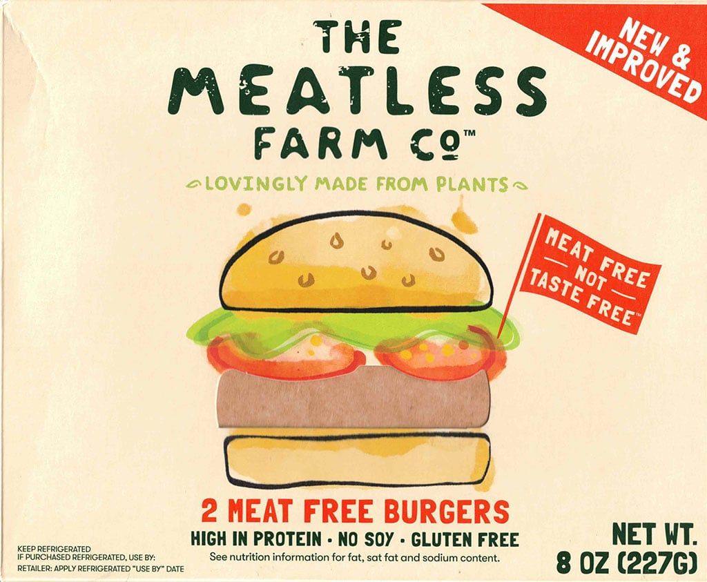 The Meatless Farm Co Burgers package front
