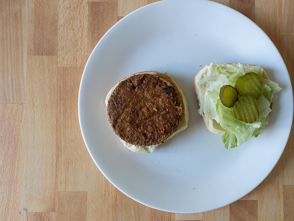 Air fried Sprouts Original Grillers Veggie Burgers