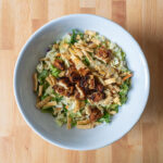 Asian salad with soy sauce fried Gardein tenders