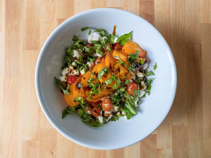 Garden fresh Caprese salad