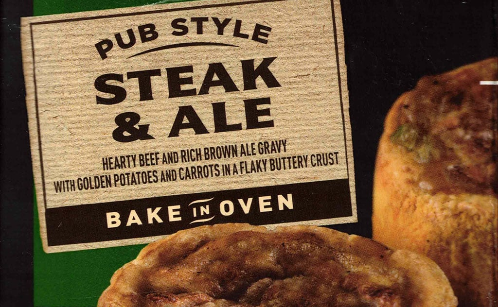 Marie Callender's Pub Style Steak & Ale pie cover