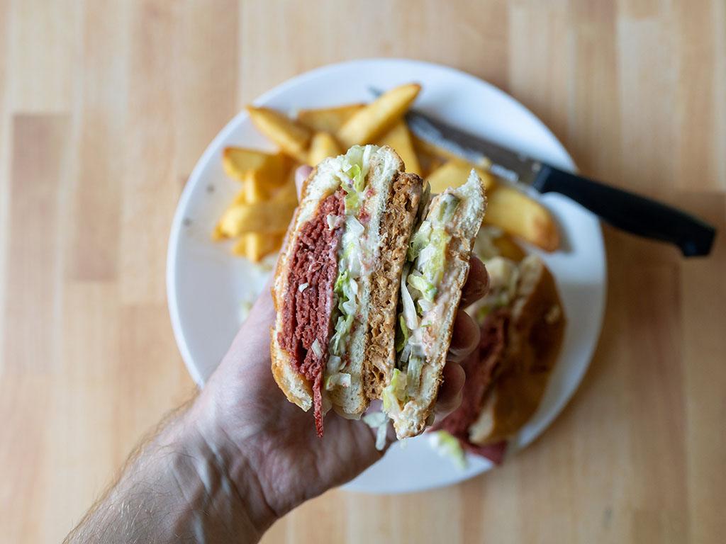Sprouts Original Grillers Veggie Burgers burger interior