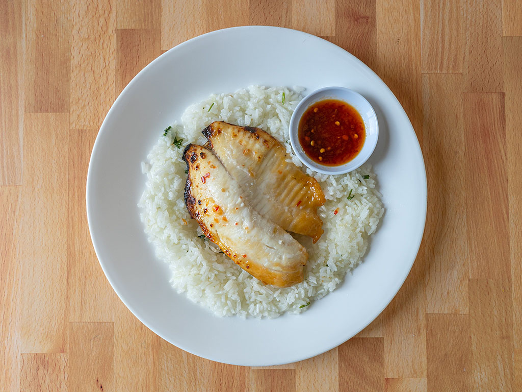 Kroger Thai Chili Lime Tilapia cooked and plated