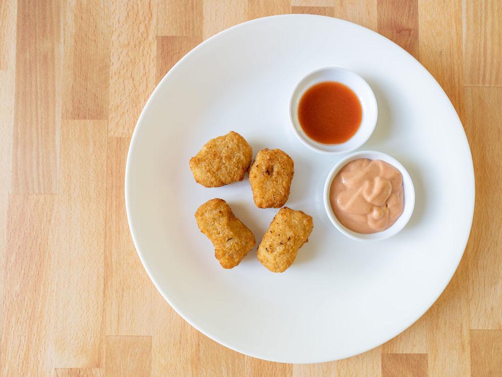 The Alpha Nugget Plant-Based Chik'n Original air fried