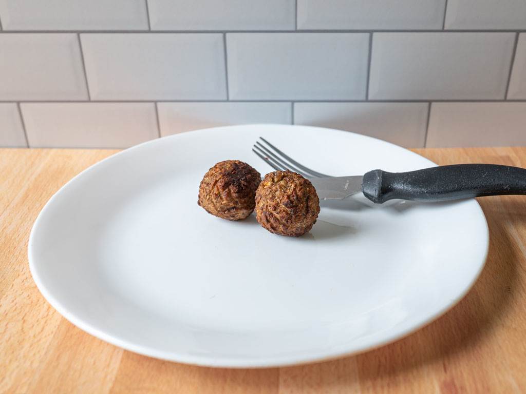 Sol Cuisine Meatless Meatballs air fried