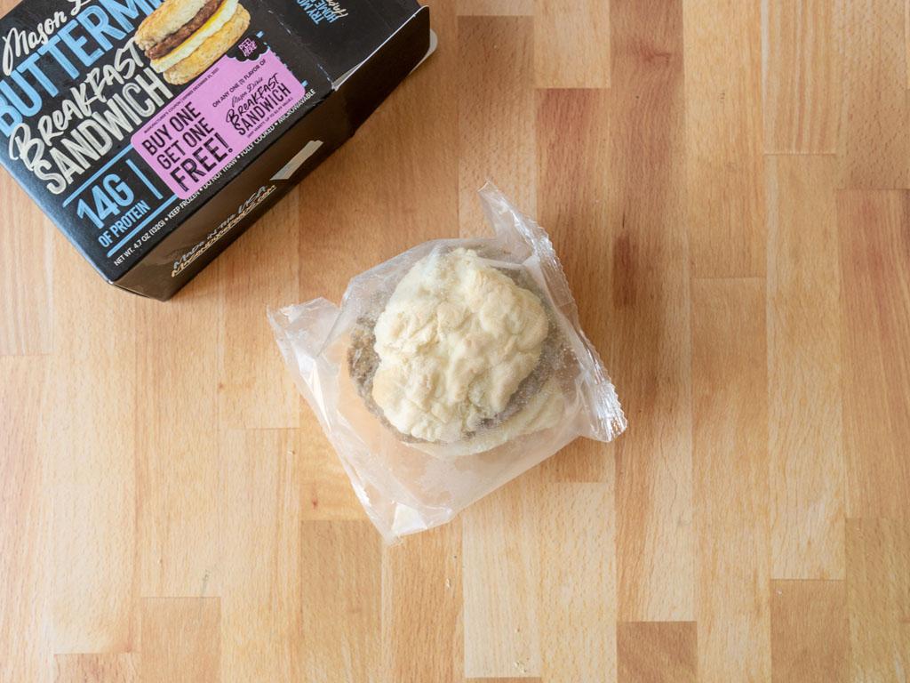 Mason Dixie Buttermilk Breakfast Sandwich in packet frozen