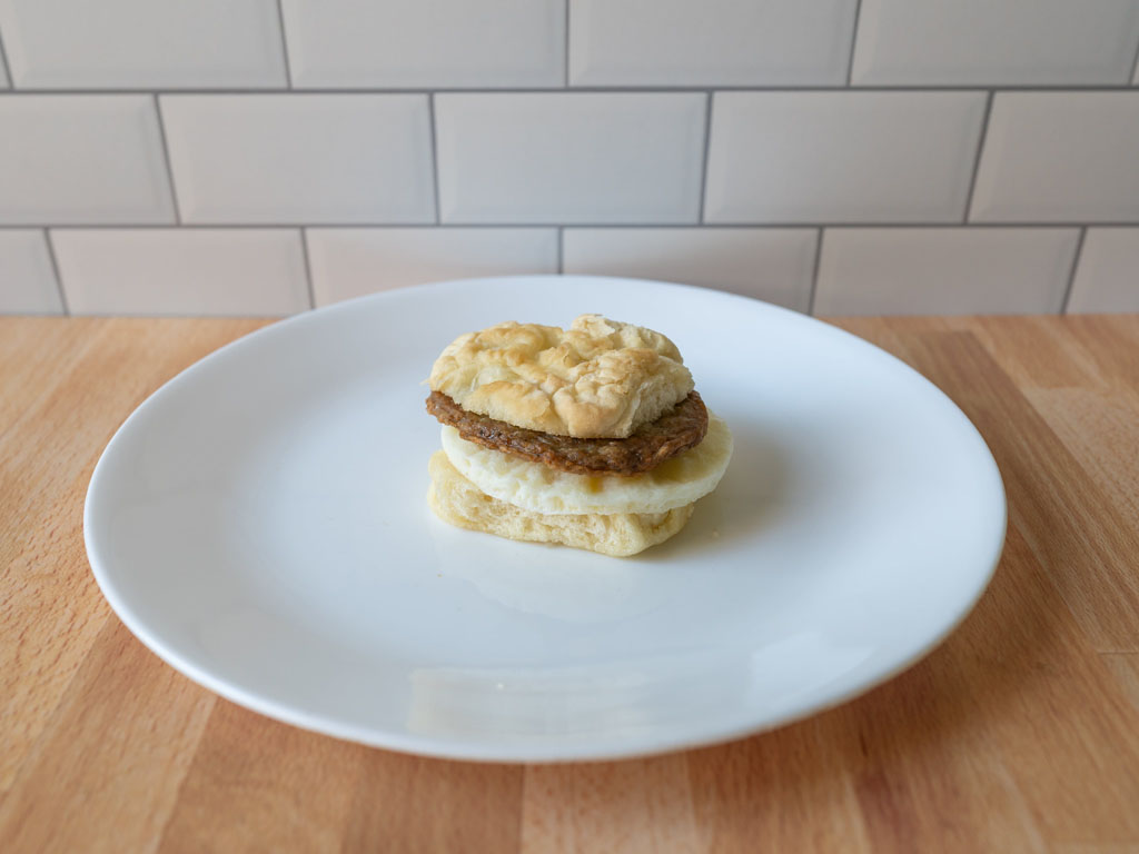 Mason Dixie Buttermilk Breakfast Sandwich cooked