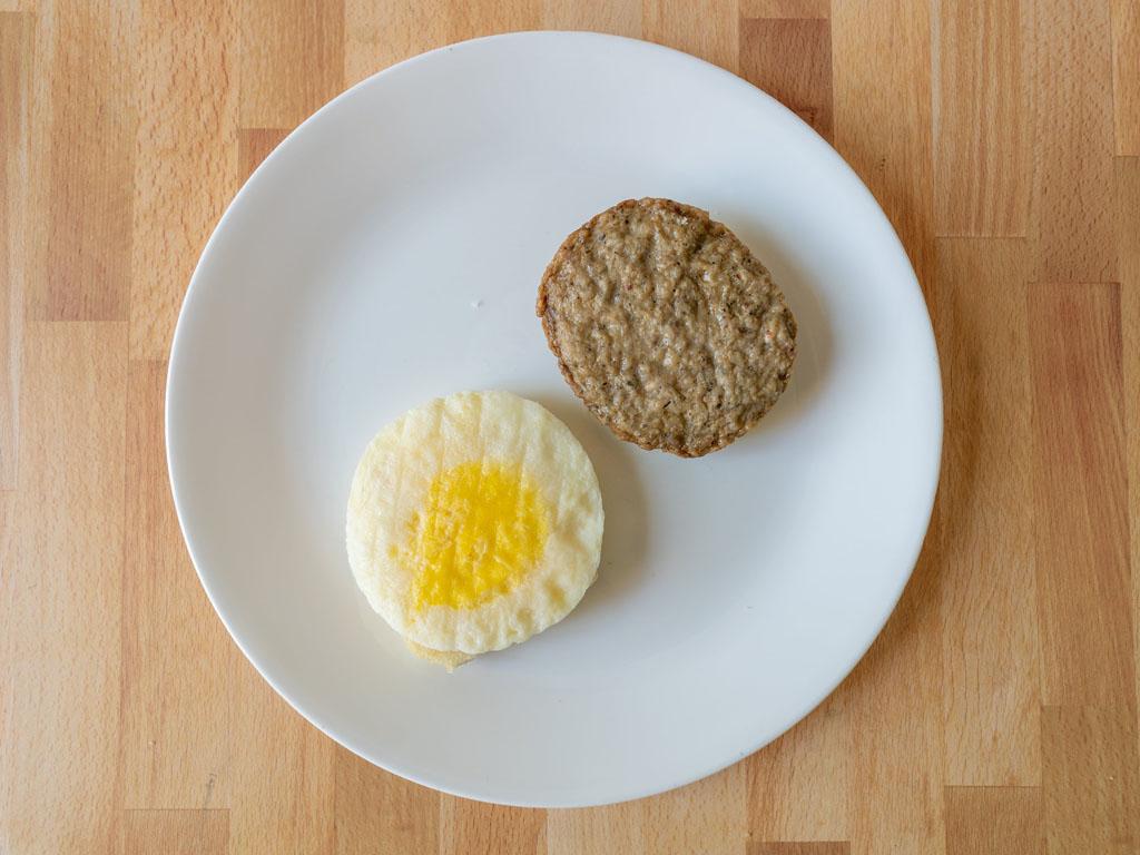 Mason Dixie Buttermilk Breakfast Sandwich cooked components