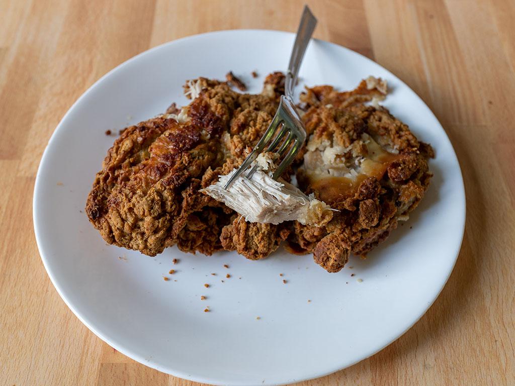 Banquet Original Crispy Fried Chicken breast interior