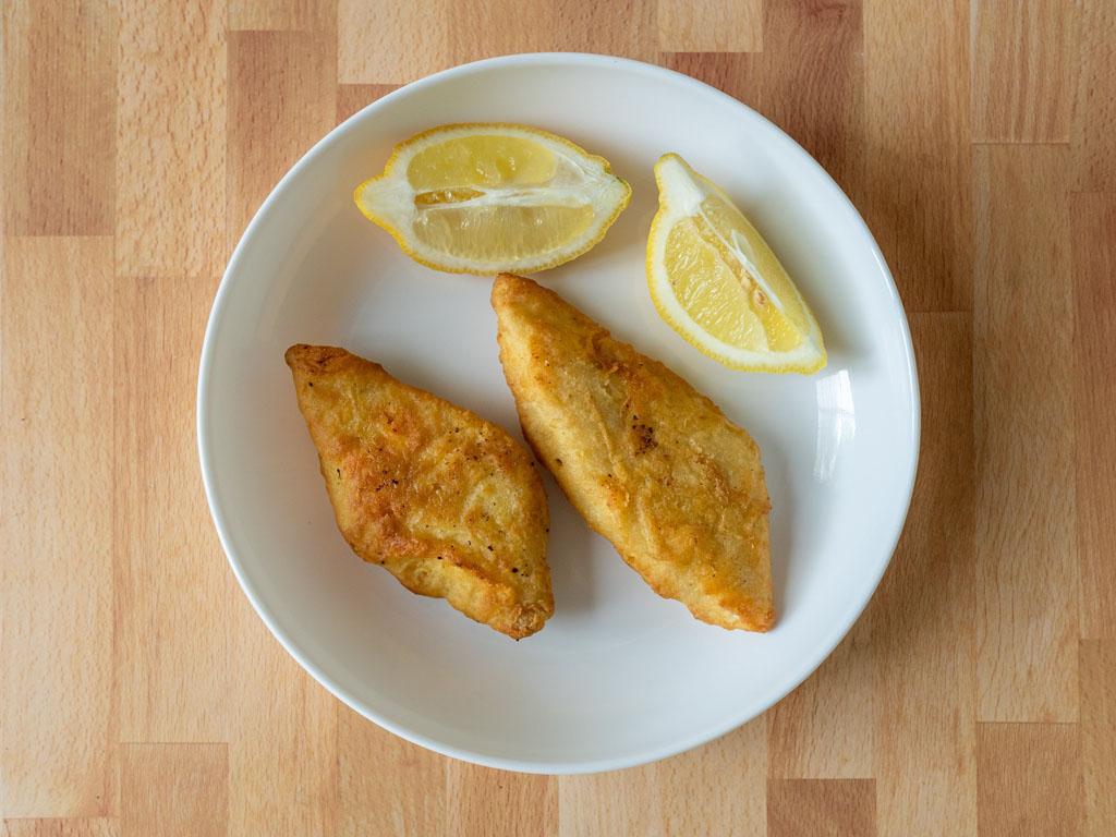 Neptune Pub Style Halibut air fried with lemon