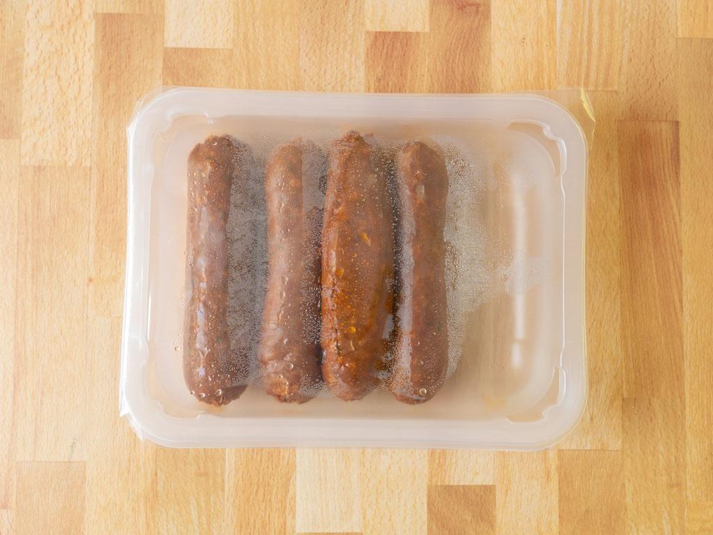 Sweet Earth Chorizo-Style Sausage raw