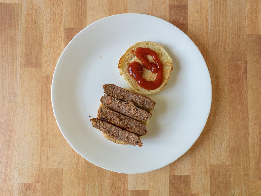Beyond Breakfast Sausage Links cooked interior