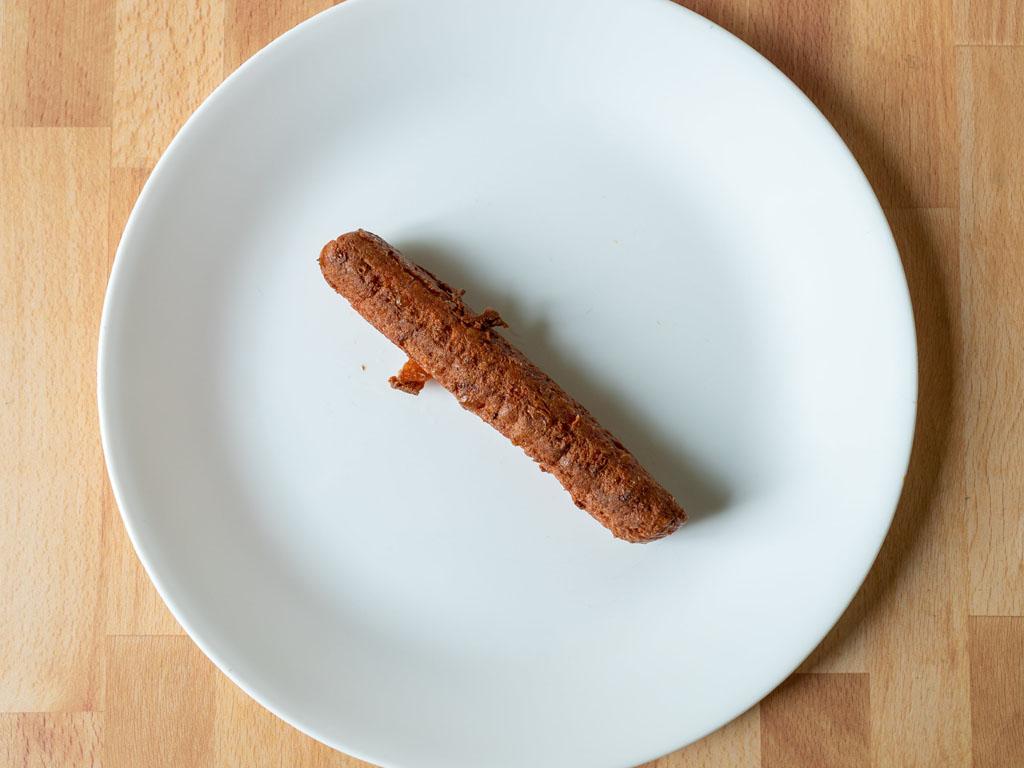 BeLeaf Vegan Hot Dog pan fried