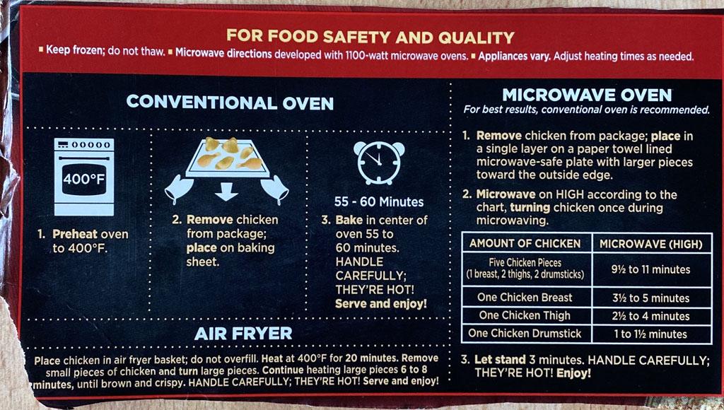 Banquet Original Crispy Fried Chicken cooking