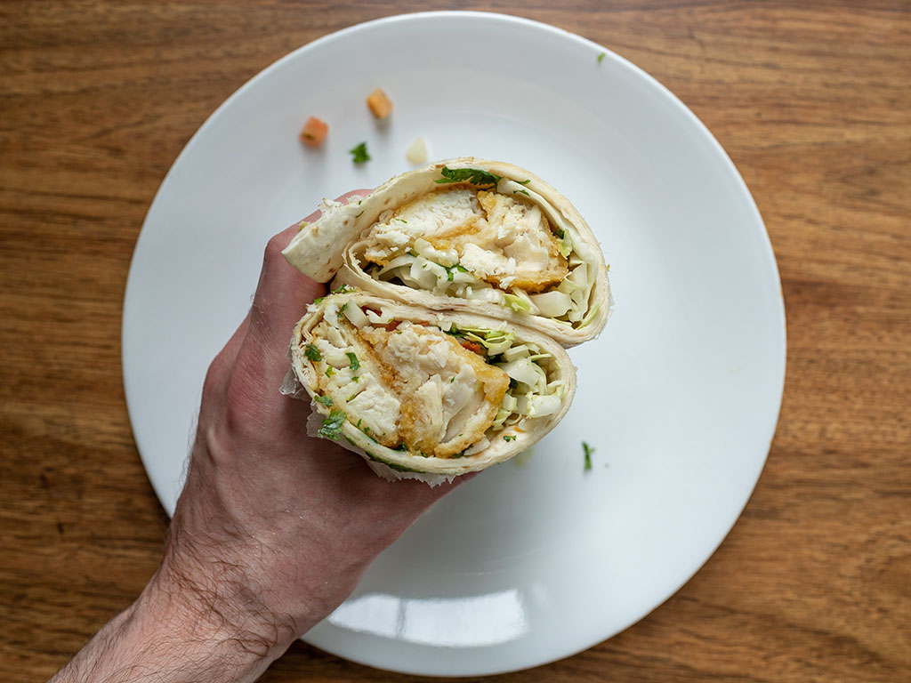 Neptune Pub Style Halibut - fish burrito