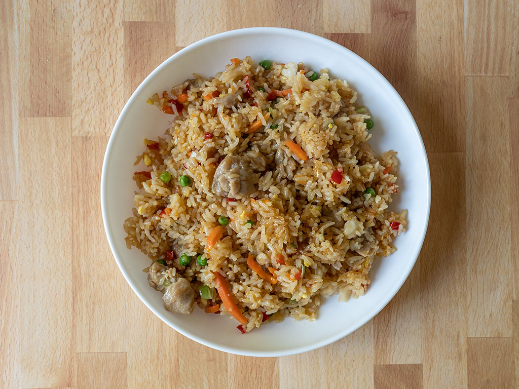 Trader Joe's Chicken Fried Rice cooked