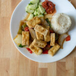 Crispy tofu in Thai chilli garlic sauce