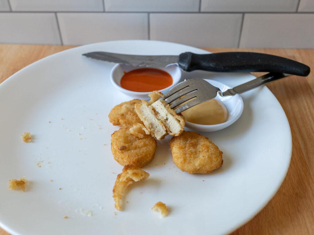 Applegate Naturals Chicken Nuggets cooked interior