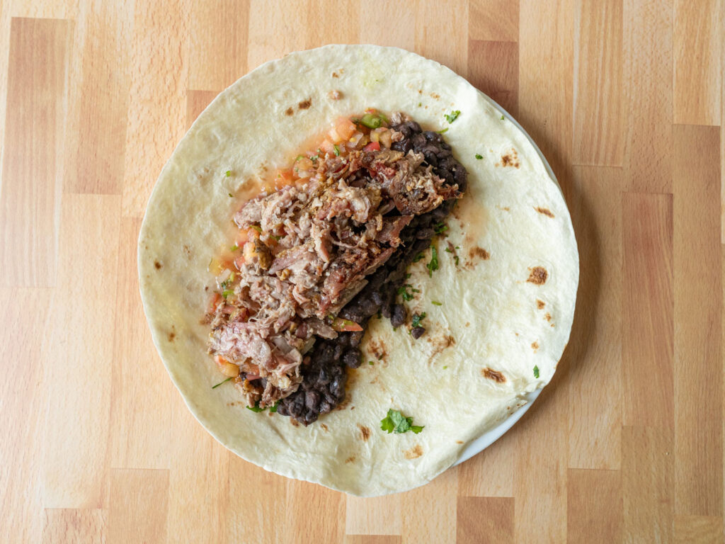 Kroger Hardwood Smoked Pulled Pork on burrito