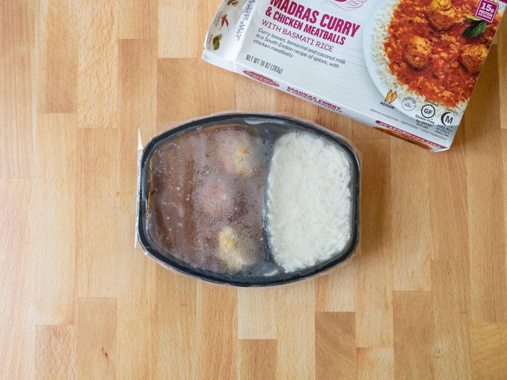 Saffron Road Madras Curry and Chicken Meatballs frozen