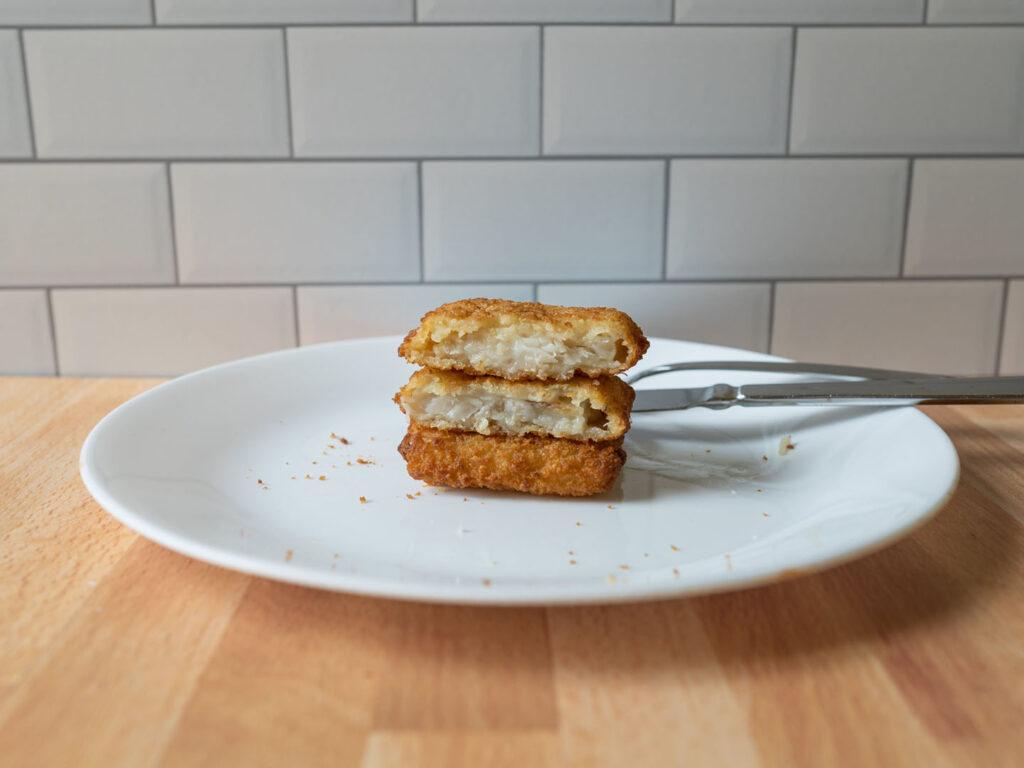 Gorton's Fish Sandwich cooked interior