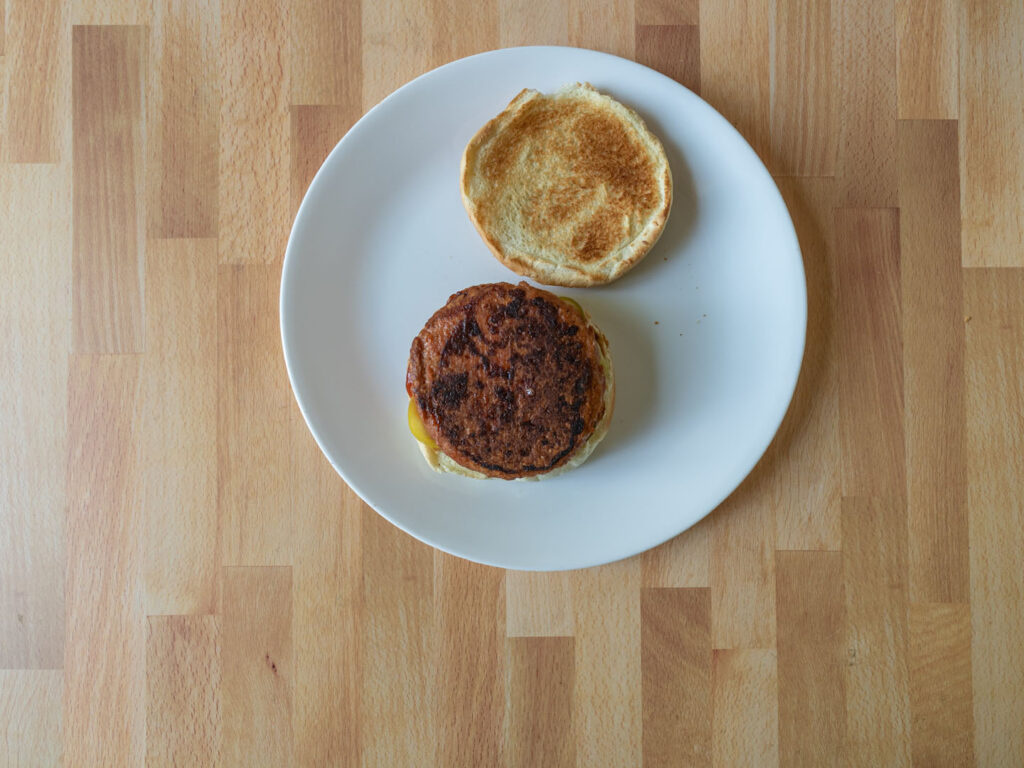 Dr Praeger's Perfect Burger cooked pan fried