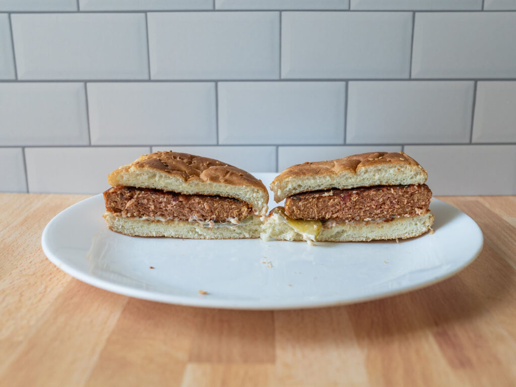 Dr Praeger's Perfect Burger cooked interior