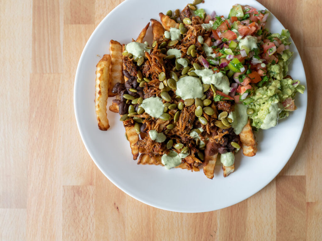 Wild Coyote Cilantro Lime Ranch over loaded fries