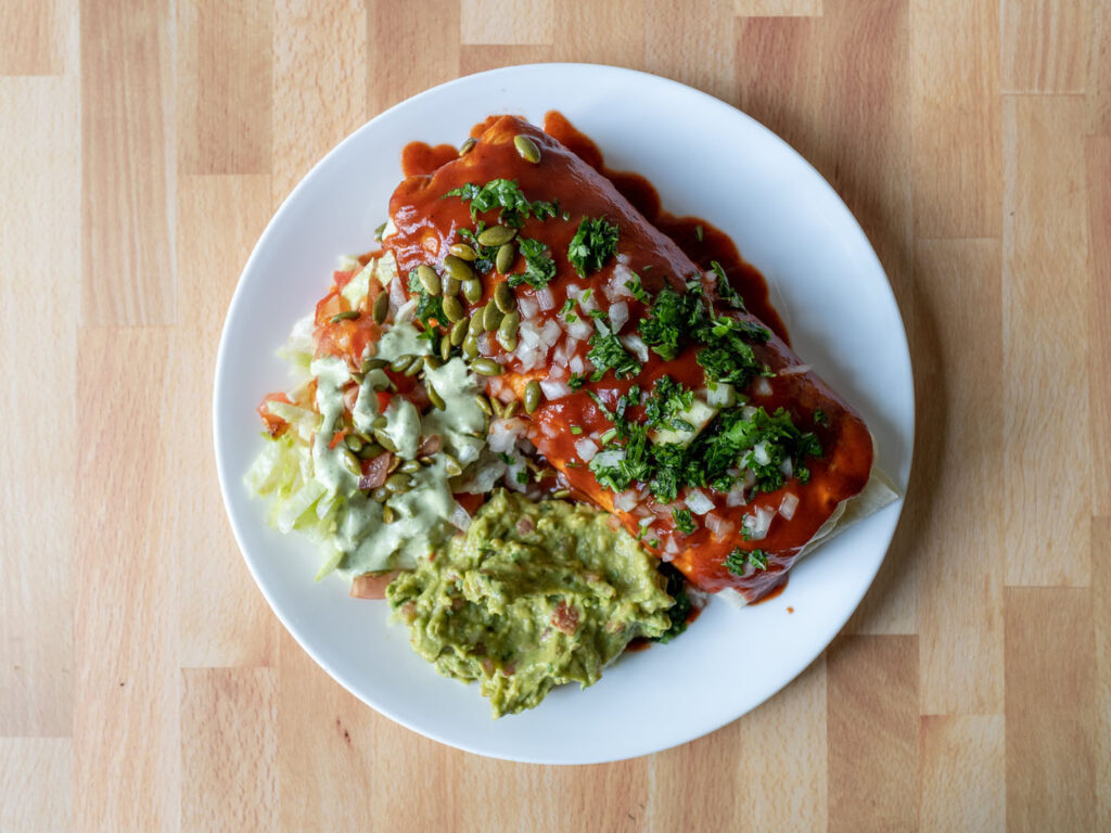 Wild Coyote Cilantro Lime Ranch with smothered burrito