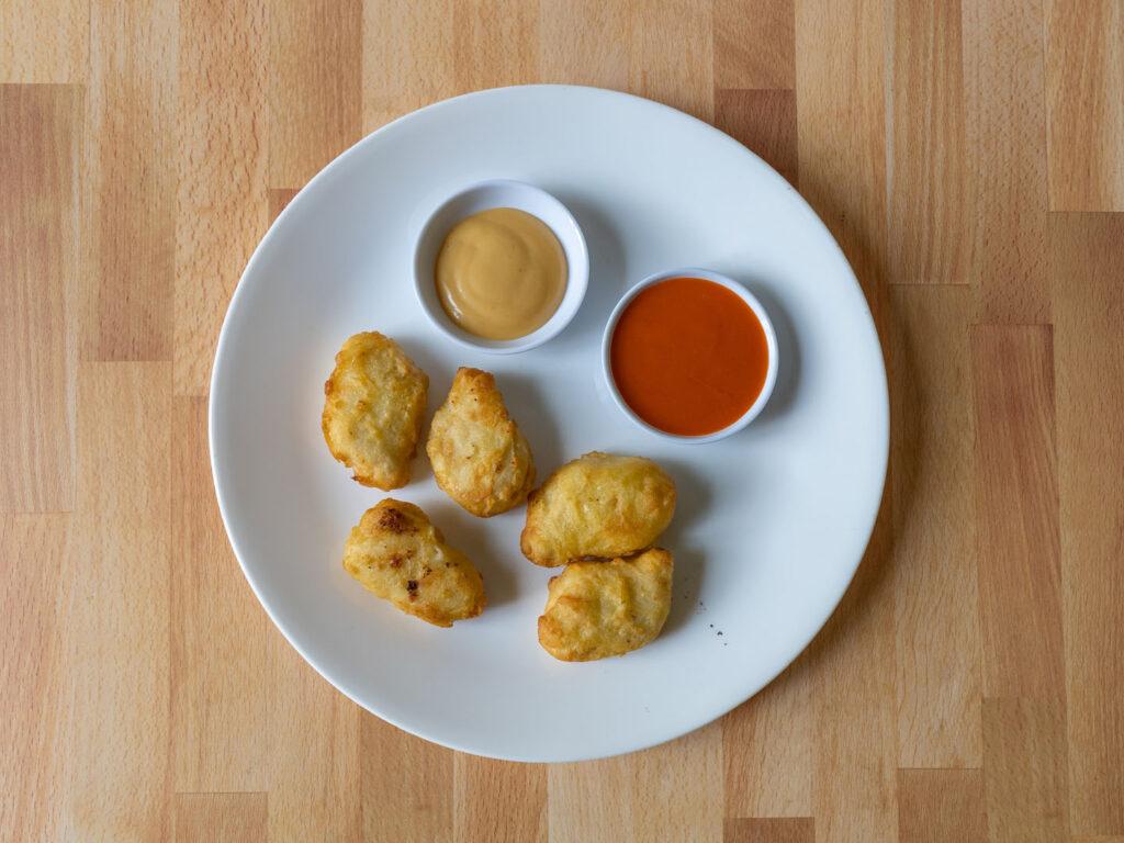 Pilgrim's Tempura Chicken Breast Nuggets air fried