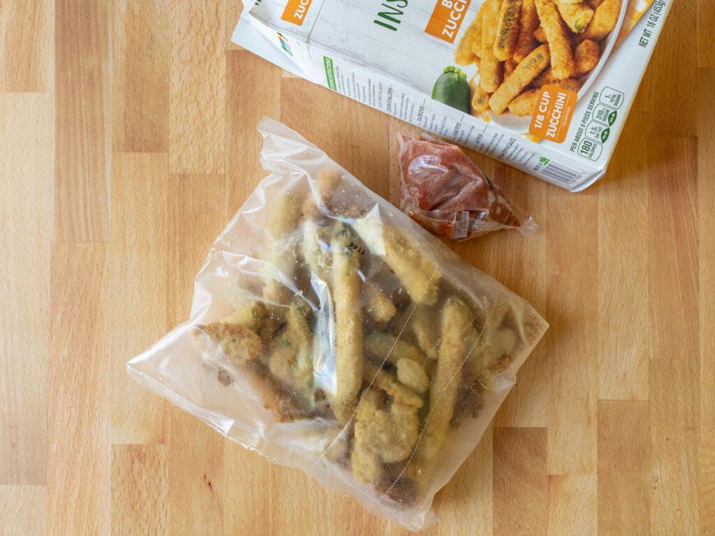 Garden Inspirations Breaded Zucchini Sticks in bag