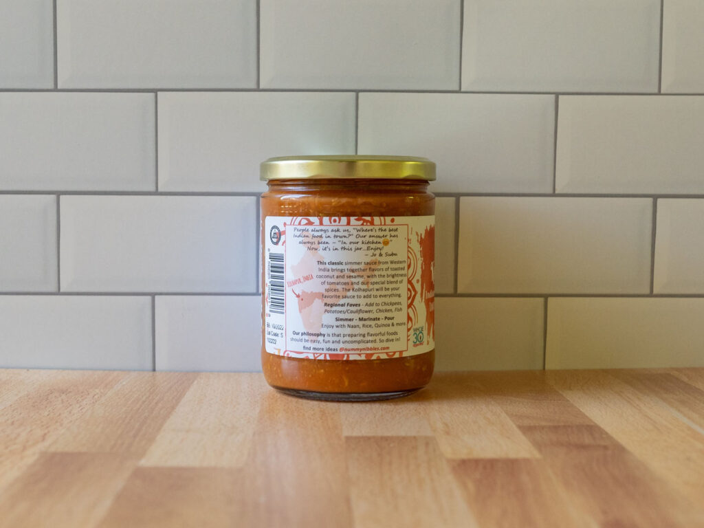 Nummy Nibbles Kohlapuri sauce package