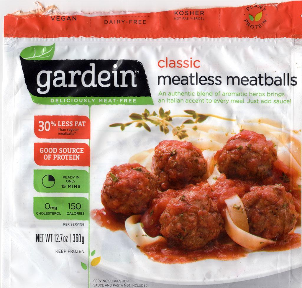 Gardein Classic Meatless Meatballs front