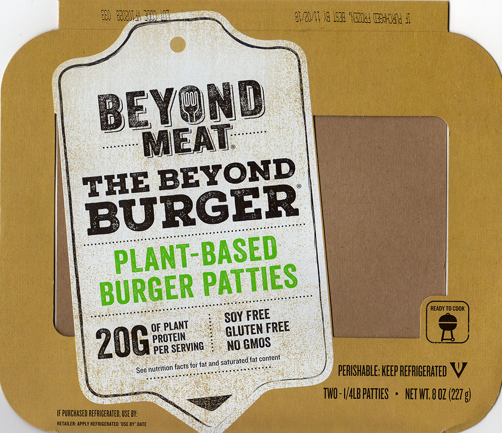 Beyond Meat The Beyond Burger package front