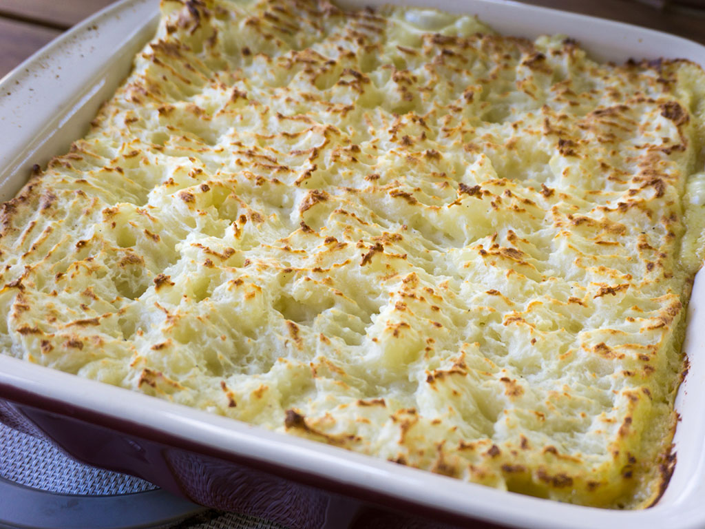 Fish Pie after baking and broiling
