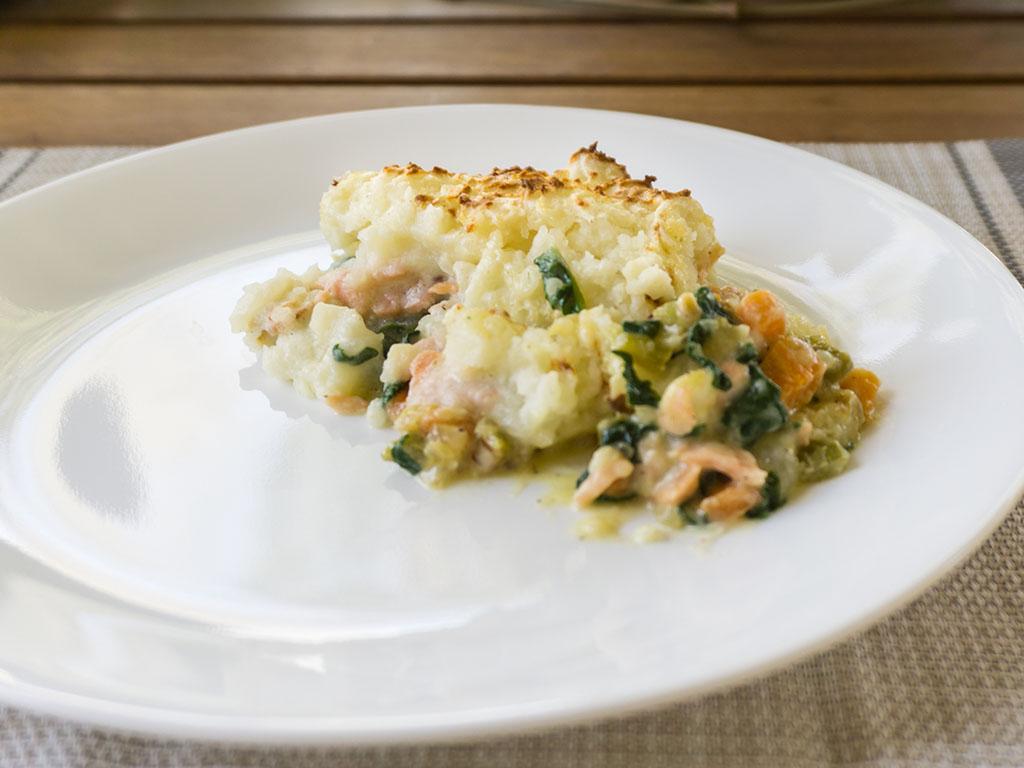 Fish Pie serving side